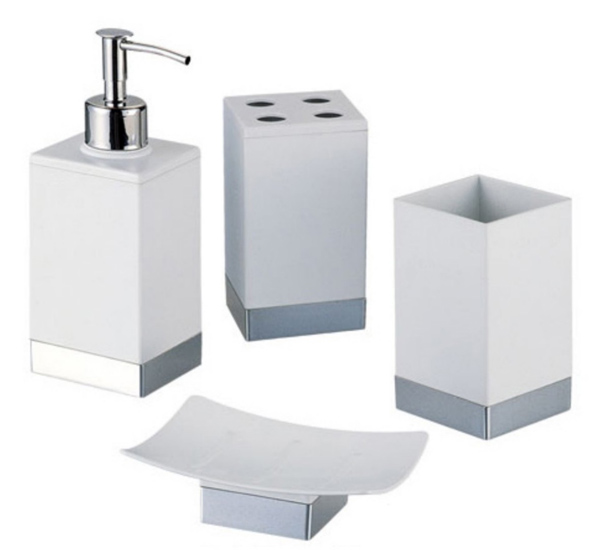 Accesorios De Un Baño:CONJUNTO BAÑO BELICE Aluminio