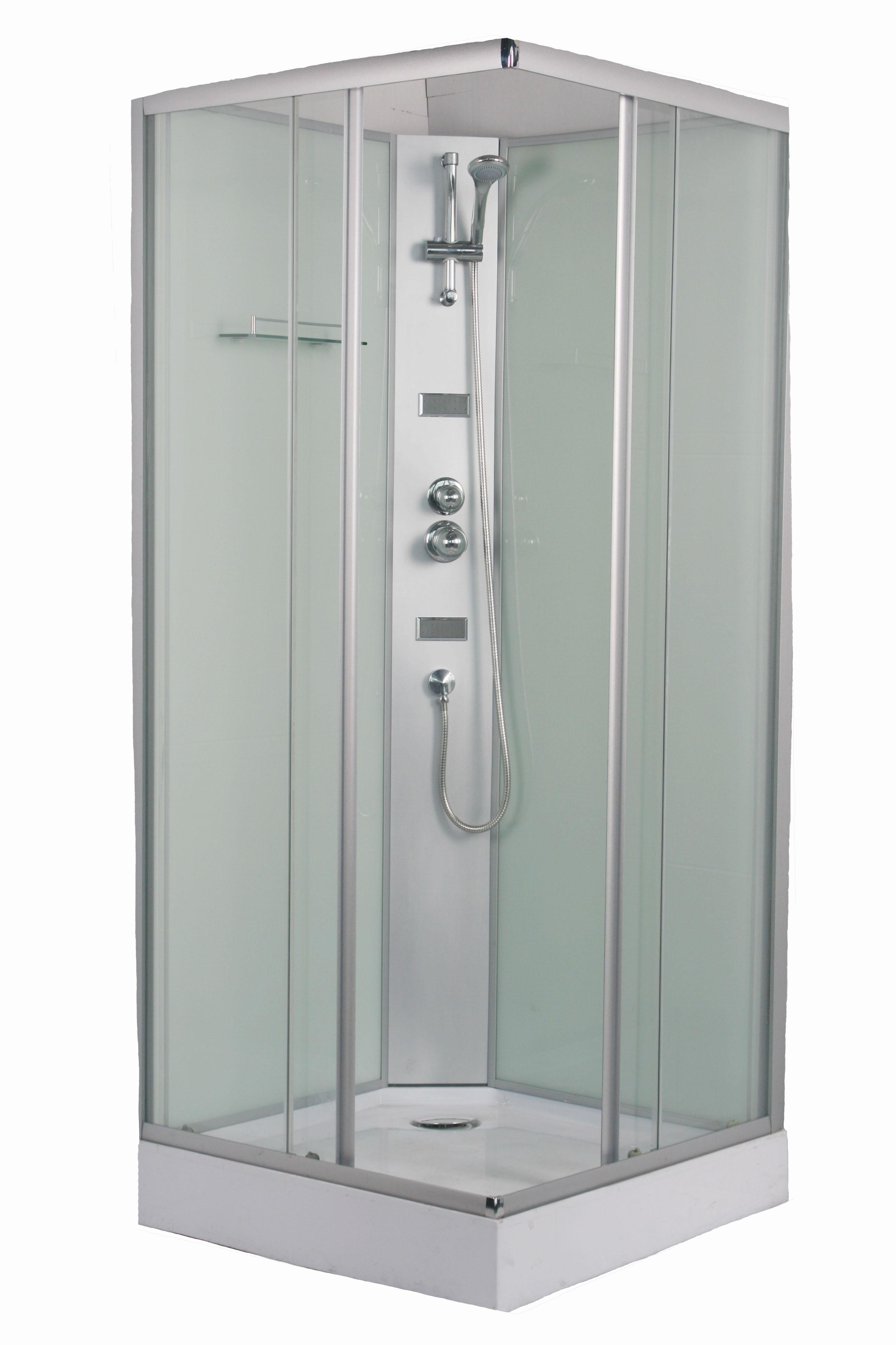 Cabinas hidromasaje cuadradas cosmos 80x80 for Instalacion cabina ducha